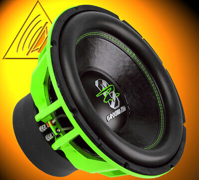 Ground Zero GZHW 38SPL GREEN 38cm Subwoofer Bass Lautsprecher 3500 W. SPL Woofer