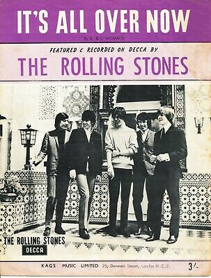 It's All Over Now - The Rolling Stones - 1964 Sheet Music