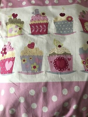 Curtains For Girls Room Pink Polka Dot Cupcake From Next 135 X 137 Cm (53 X 54)