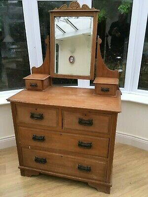 Antique pine dressing table ideal for chalk painting