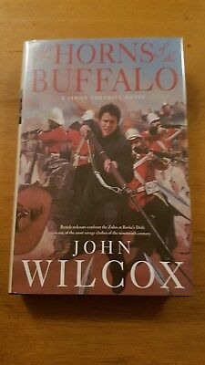 JOHN WILCOX THE HORNS OF THE BUFFALO 1st /1st UK HB with DJ Signed & Lined