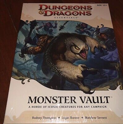 Dungeons and Dragons Essentials 4th Ed Monster Vault Brand New Sealed