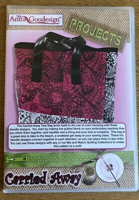 Anita Goodesign Projects CARRIED AWAY Tote bag