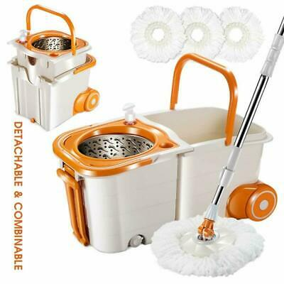 Masthome Space Saving 360 Spin Mop Easy Mop and Bucket Set for Floor Cleaning, S