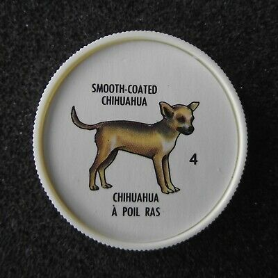 """Humpty Dumpty Potato Chips """"Smooth-Coated Chihuahua"""" Plastic Dog Picture Coin #4"""