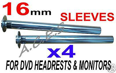 16 mm Poles X4 for Any Headrest DVD Players or Monitors
