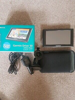 Garmin Drive 50 LM sat nav with lifetime maps. Good condition. Works perfectly