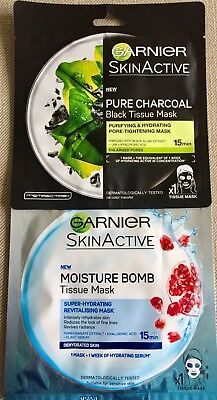 Garnier SkinActive - Pure Charcoal And Moisture Bomb Tissue Mask