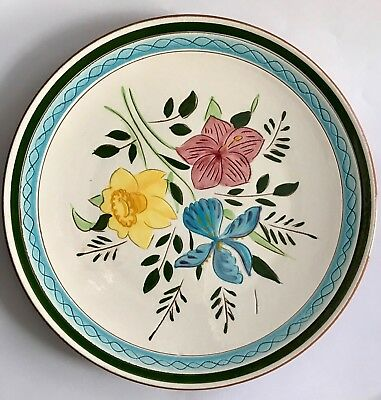 """8 Vintage Stangl Pottery 10"""" Dinner Plates """"Country Garden"""" Excellent Condition"""
