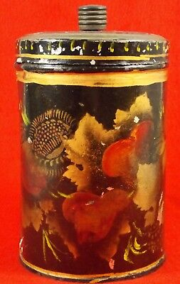 Antique Toleware Tea Canister or Caddy Nice!