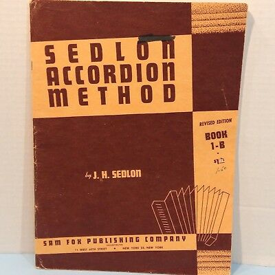 Vintage Sedlon According Method Book 1B Tab Lessons Course Groups or Individual