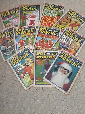 Vintage Roy of the Rovers comics from 1976 - Eleven editions including first