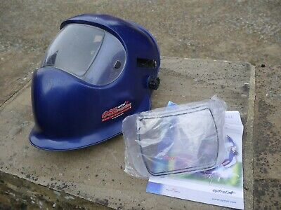Optrel Satellite welding mask minus cassette + two spare front screens