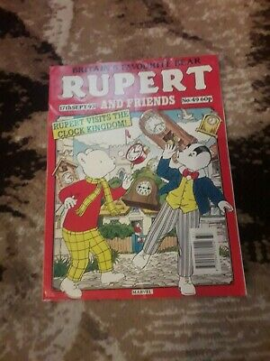 Rupert and Friends Marvel Comic 17th Sept 93 issue 49