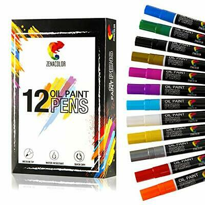 ⭐12 Rotuladores Permanentes Pintura al Óleo - 12 Colores Distintos - Rotulad