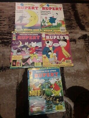 Rupert Comics Learn And Play And Fun To Learn 5 Issues