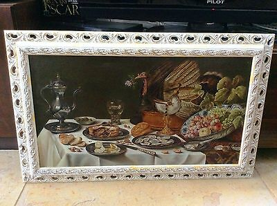 NATAN PERNICK , Oil on Canvas, Based on 17th Century Still Life, Signed , Listed