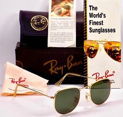 NOS 1990's B&L Ray Ban Flattop Classic Collection 2 W0978 Sunglasses & Case