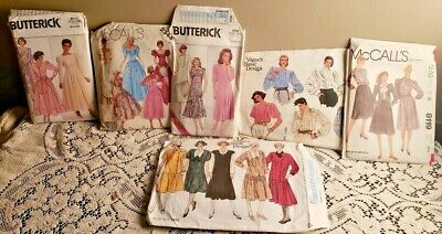 Vintage 1980s / 70's Lot of 6 Packets of Patterns - Mostly Uncut -Various Brands