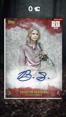 Topps Walking Dead Card Trader LIZZIE SAMUELS Red Auto Signature (56cc) DIGITAL