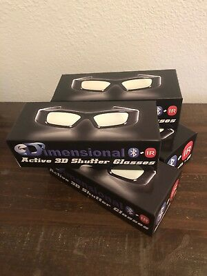 SAMSUNG 4 PACK Compatible eDimensional RECHARGEABLE 3D Glasses for 2011-15 3D