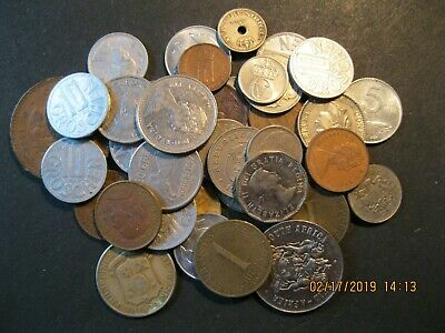Lot Of 38 Mixed World Coins Various Countries And Denominations-Unsearched