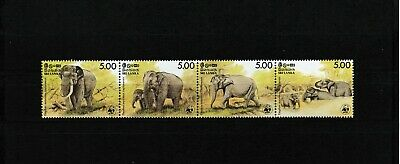 Sri Lanka Elephant strip WWF MNH