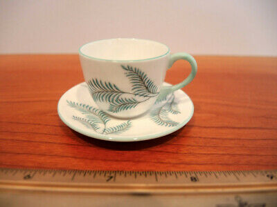 Shelley England rare Serenity pattern Miniature Cup and Saucer #13408 MINT