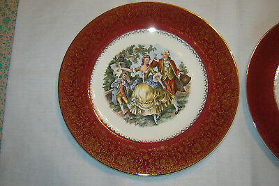 Imperial Salem China 23K Gold Service Plates -2 Plates Included