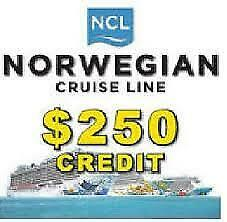 NCL Cruise Next $250 Deposit Norwegian Cruise Line Save £££s - 2 available