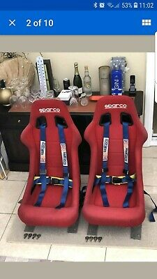 Sparco Blue 4 Point Racing Harness