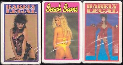 Vintage Sealed adult photo Pin-up playing cards 3 x packs - Only 1 set.