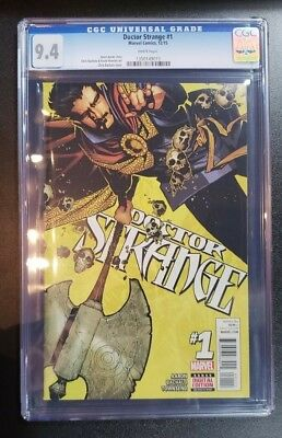 Doctor Strange #1 CGC 9.4 White Pages - Jason Aaron Chris Bachalo 2015 @