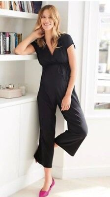Next Black Maternity Jumpsuit Size 16