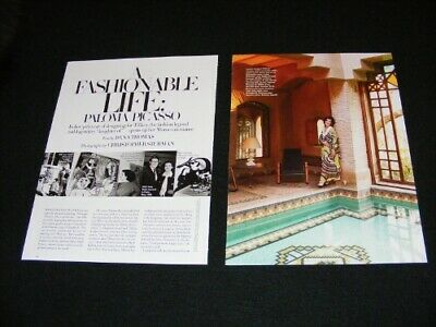 PALOMA PICASSO magazine clippings