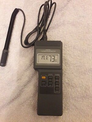 Digital thermometer hygrometer humidity, electrician's test instrument