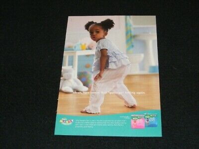PAMPERS magazine clipping Diaper ad from 2005 Feel n Learn