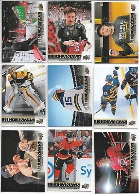 2018-19 18/19 Upper Deck Series 1 UD Canvas Inserts - Pick From List
