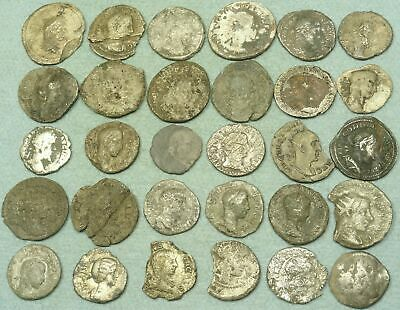 Lot Of 30 Uncleaned Roman Silver Coins