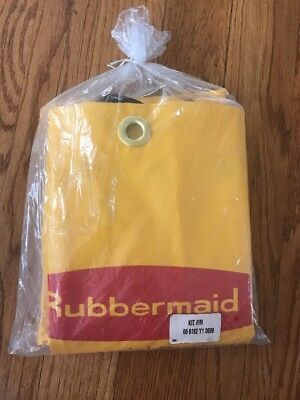 New Rubbermaid Vinyl Replacement Bag Cleaning Janitor Cart 6182 Bag (Yellow)