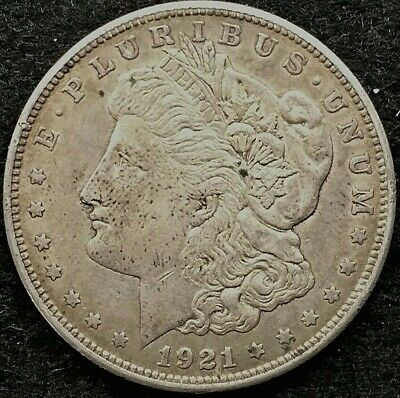 1921 Morgan Silver Dollar, Ungraded, Circulated, No Reserve, Combined Shipping