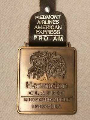 Piedmont Airlines American Express  Pro Am Henredon Classic Golf Badge NC