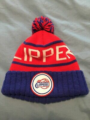 23dfe8f430d47 Authentic Mitchell   Ness Los Angeles Clippers NBA Hat Cap Beanie Pompom Knit  LA