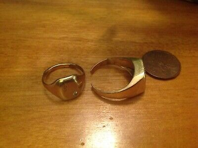 2 gold rings scrap 10 k ? Auction #7 olddoll66