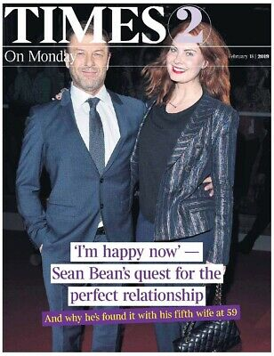 UK Times T2 February 2019: SEAN BEAN COVER & FEATURE Sadie Frost
