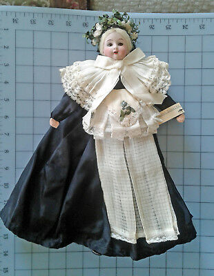 ABG Doll Circa 1890 Germany Bisque Head World Travel Costume Doll Lausitz Bride