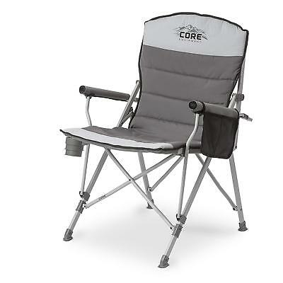Oversized Cozy Camp Chair Folding Portable Outdoors Camping Seat New
