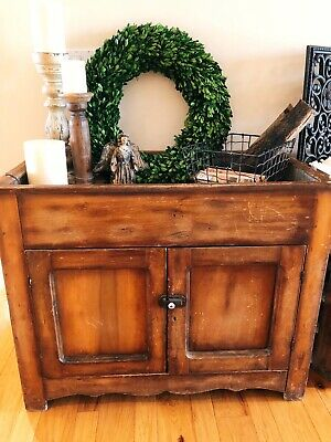 Rustic Farmhouse Dry Sink Cabinet