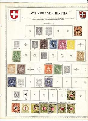 Used Switzerland Collection On Minkus Album Pages (-1971) - BETTER!!! - SEE!!!