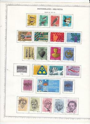 Used Switzerland Collection On Minkus Album Pages (1971-1996) - SEE!!!